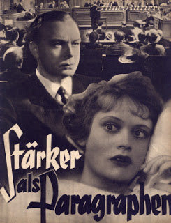 "spite the oppressive new political climate, Mager was commissioned to create sound effects with the Partiturophon in the 1936 film ""Stärker Paragraphen als""  by Jürgen von Alten , with music by Rudolf Perak."